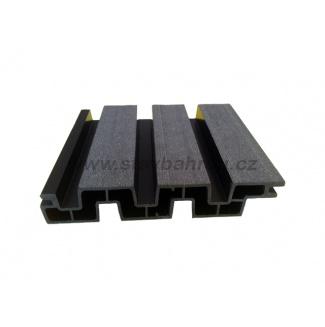 WPC Duofuse plotová deska lamelová pero/drážka - grafitová černá