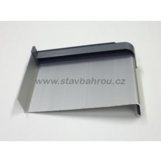Venkovní okenní hliníkový parapet - elox stříbrný C0
