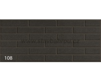 Cihelný obkladový pásek IZOFLEX, č.108 antracit