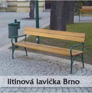 Lavička z litiny - Brno