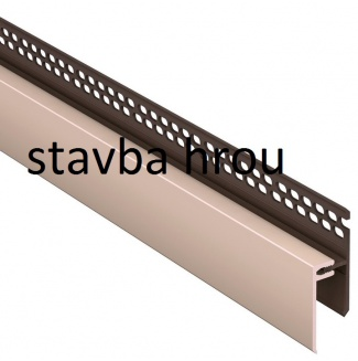 Lemovací U profil 2-dílný vrchní větrací SOLID BRICK a SOLID STONE SU262 - S01 béžový /3 m