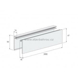 Ukončovací U profil 2-dílný Solid Brick FS252 - tmavě šedý