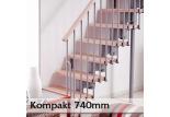 Přímé schodiště Kompakt 740mm