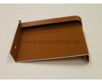 Venkovní okenní hliníkový parapet - světle hnědý RAL 8003