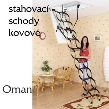 Skládací půdní schody Oman Nůžkové