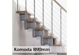 Přímé schodiště Komoda 890mm