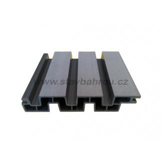 WPC Duofuse plotová deska lamelová pero/drážka - kamenná šedá