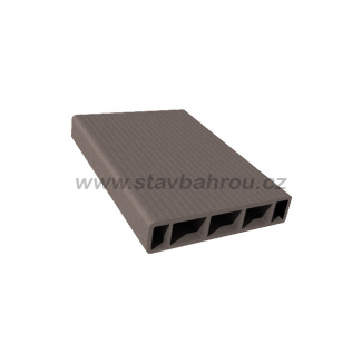 WPC Duofuse plotová deska hladká - kamenná šedá