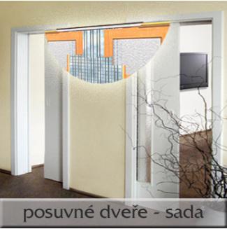 Posuvné dveře 2x80/197, sada