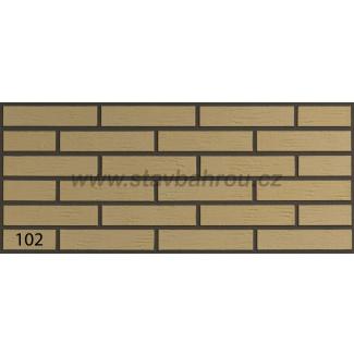 Cihelný obkladový pásek IZOFLEX, č.102 pískový