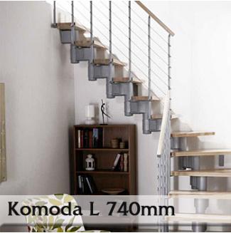 Lomené schodiště Komoda 74L