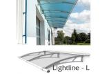 Vchodová stříška Polymer, Lightline L základní modul 1916 x 950 mm
