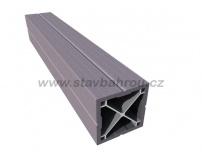 WPC Duofuse plotový sloupek - kamenná šedá