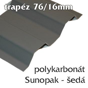 Trapézová krytina Sunopak 76/16 šedá