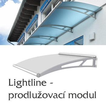 Vchodová stříška Lightline typ XL - prodlužovací modul