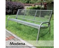 Nerezová lavička Modena
