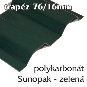 Trapézová krytina Sunopak 76/16 zelená