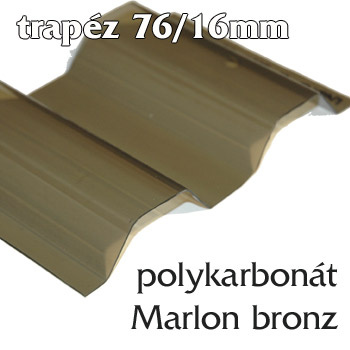 Trapézová deska Suntuf CS 76/16 bronz