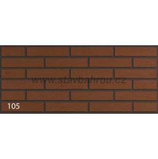 Cihelný obkladový pásek IZOFLEX, č.105 cihlový