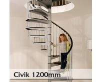 Ocelové schodiště Civik 1200mm