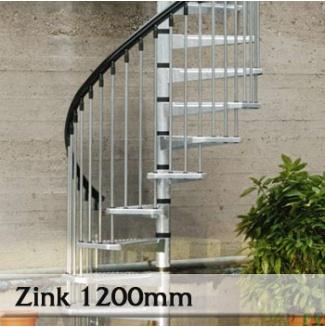 Točité venkovní schodiště Zink 1200mm