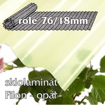 Sklolaminát Filon 76/18 opál - vlnitá role