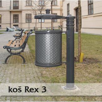 Odpadkový koš REX 3