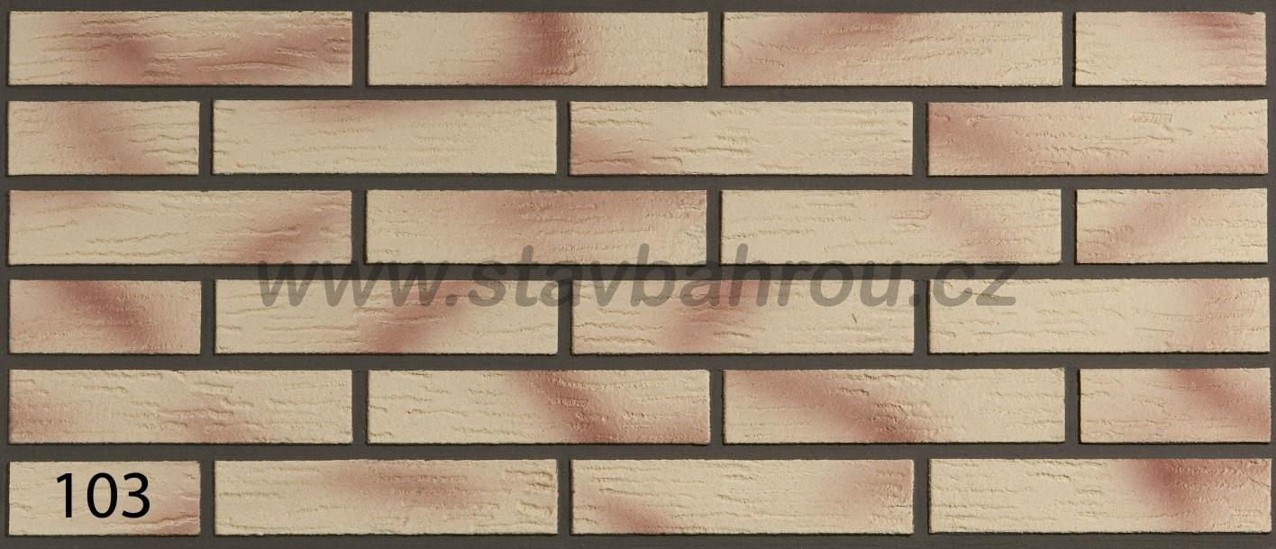 Cihelný obkladový pásek IZOFLEX, č.103 růžový