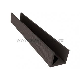 WPC Duofuse plotový profil U velký - grafitová černá