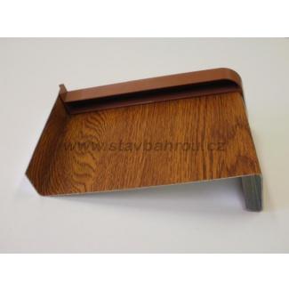 Venkovní okenní pozinkovaný parapet - zlatý dub renolit folie