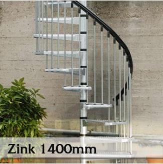 Točité venkovní schodiště Zink 1400mm