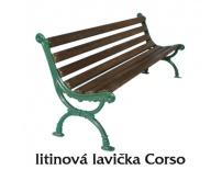 Litinová lavička Corso
