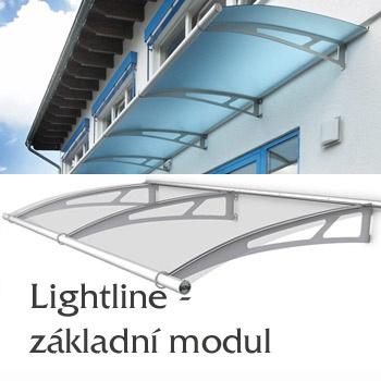 Vchodová stříška Lightline typ XL - základní modul