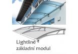 Vchodová stříška Polymer, Lightline XL základní modul 2874 x 1420 mm