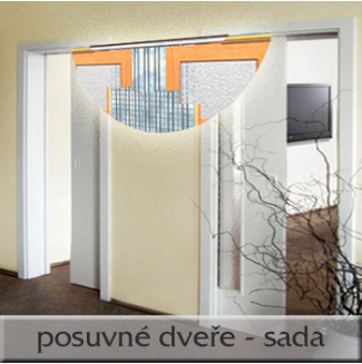 Posuvné dveře 2x70/197, sada