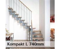 Segmentové schodiště Kompakt 74L