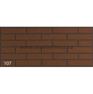 Cihelný obkladový pásek IZOFLEX, č.107 červenohnědý