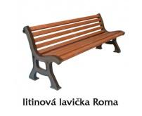 Lavička z litiny - Roma