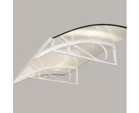 Vchodová stříška Robelit ARCO 150x90x25cm - bílá