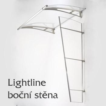Vchodová stříška Lightline typ L - boční stěna