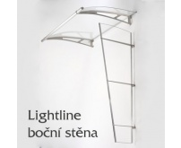 Boční stěna pro stříšku nad vchod Polymer, Lightline L