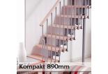 Přímé schodiště Kompakt 890mm