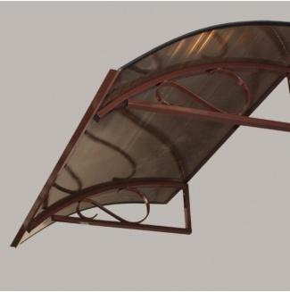 Vchodová stříška Robelit ARCO 150x90x25cm - hnědá
