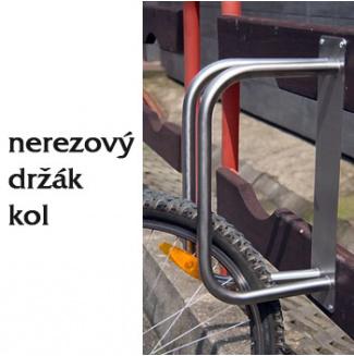 Nerezový držák na kola