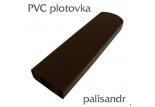 Plastová plotovka palisandr