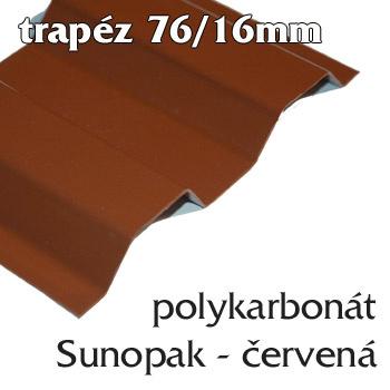 Trapézová krytina Sunopak 76/16 červená