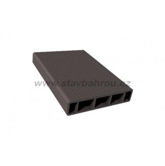 WPC Duofuse plotová deska hladká - grafitová černá