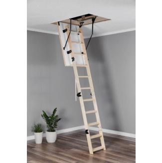 Půdní schody  OMAN s dřevěným žebříkem COMPACT TERMO