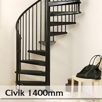 Ocelové schodiště Civik 1400mm