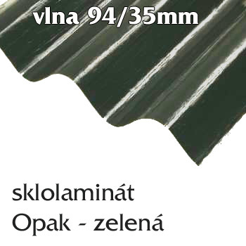 Opak 94/35 zelená - vlnité desky onduline